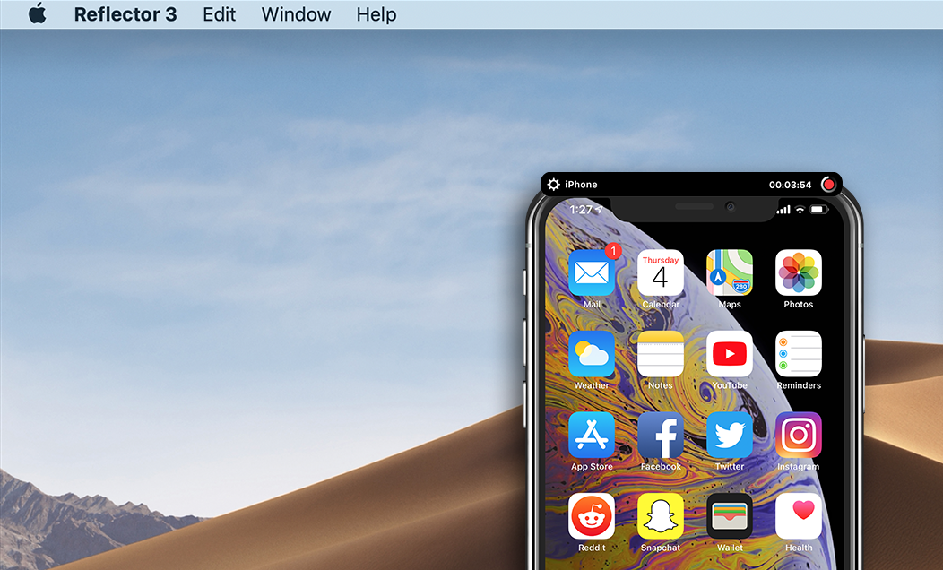 Reflector Recording iPhone Screen
