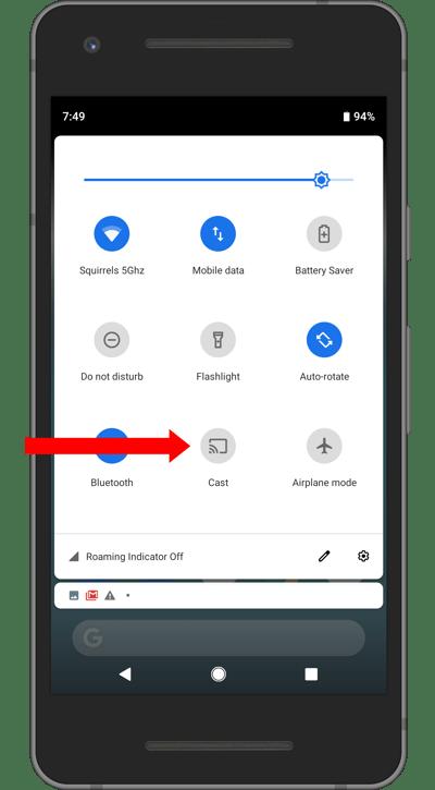 Google Pixel Cast Button