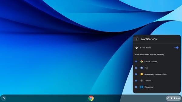 Chromebook notifications