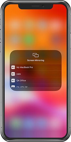 iPhone Screen Mirroring Receivers