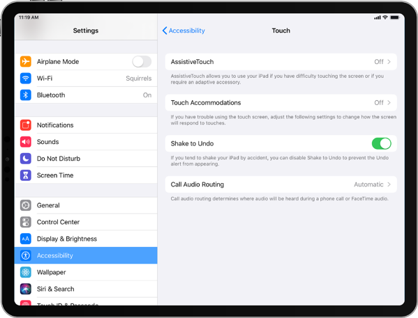 iPad AssistiveTouch