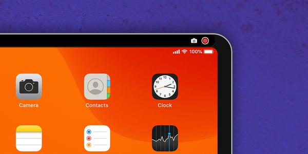 Screen mirroring iPad with screenshot button