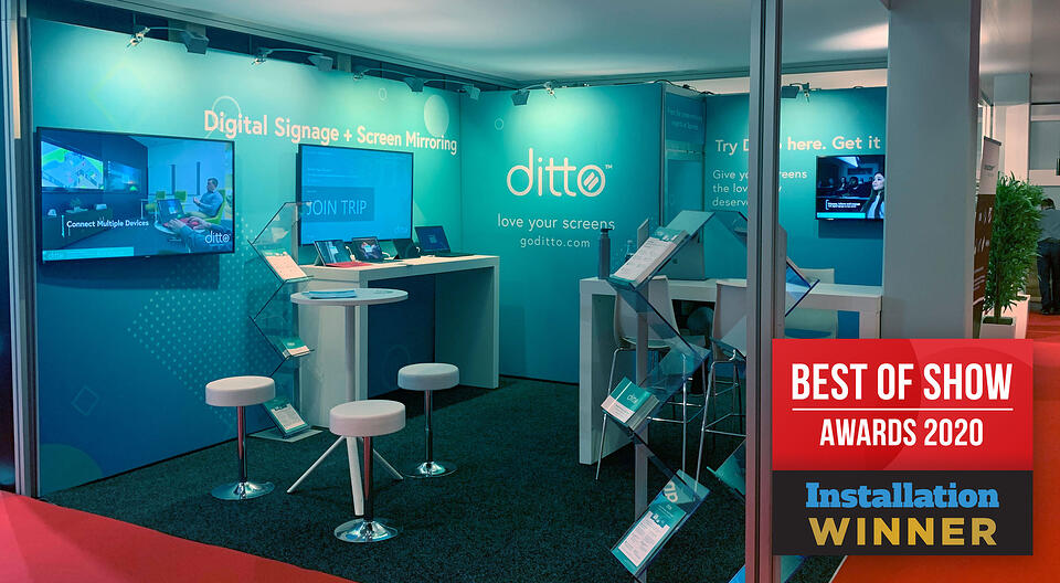 Ditto booth Best of Show at ISE Amsterdam