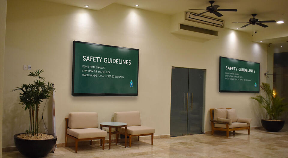 Ditto digital signage crisis safety content