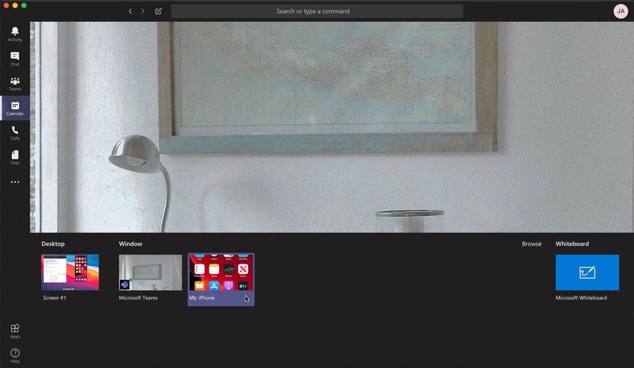 Microsoft Teams Share Phone Screen