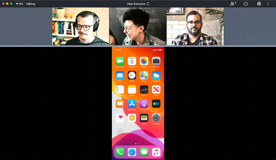 Share phone to GoToMeeting natively