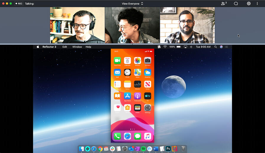 Share phone and desktop with GoToMeeting using Reflector