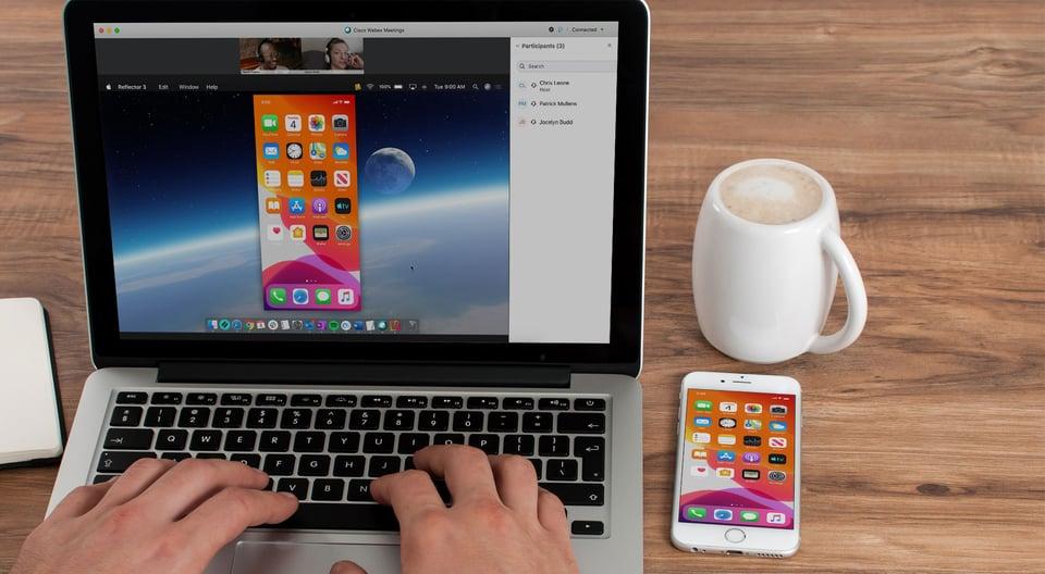 Phone sharing screen to Cisco Webex