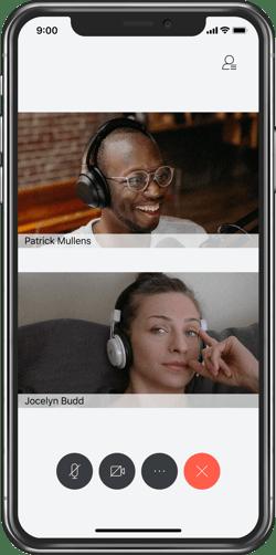 Cisco Webex video meeting on iPhone