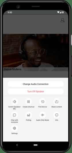 Cisco Webex Android options