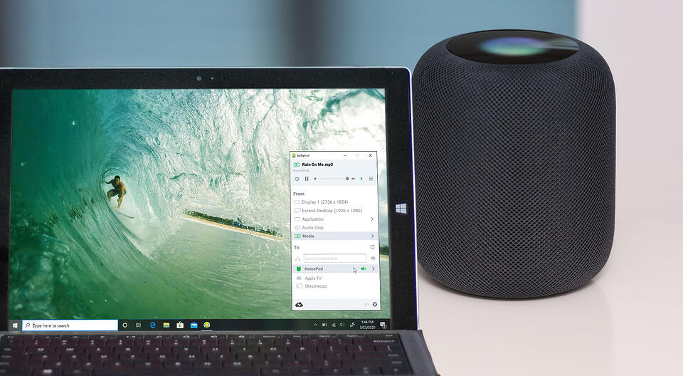 Windows PC streaming music to Apple HomePod