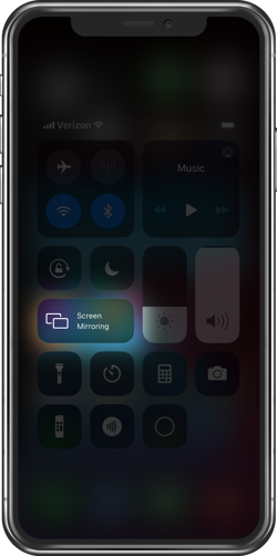 iPhone Control Center Screen Mirroring