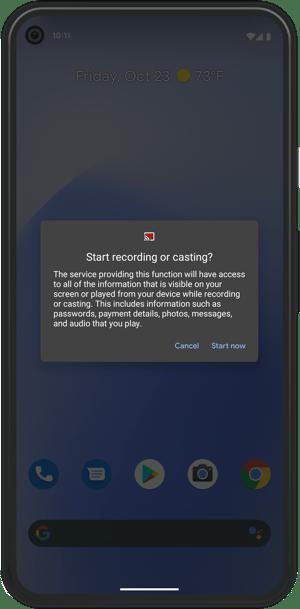 Google Pixel Cast start now