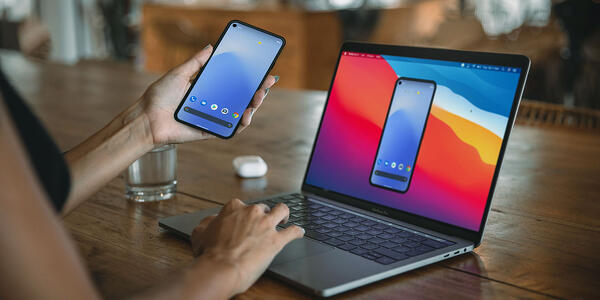 Cast Google Pixel to computer