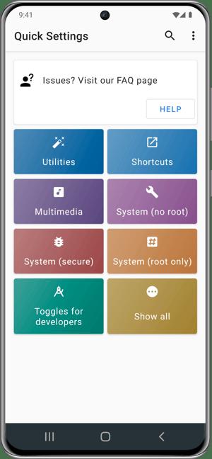 Samsung Quick Settings Multimedia