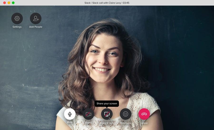 Slack call share screen