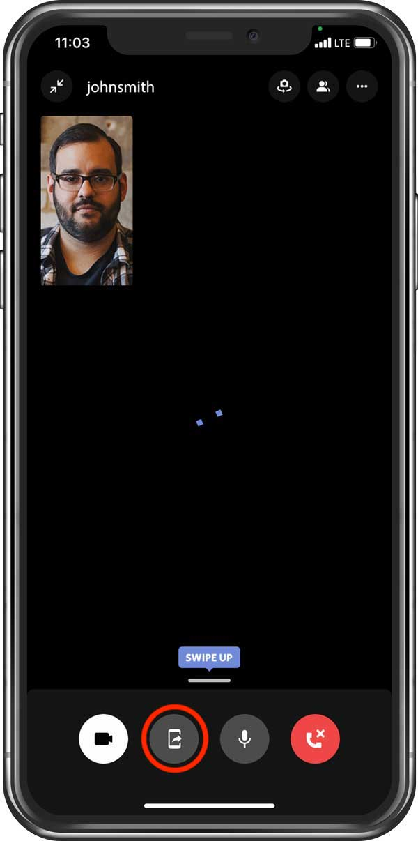 Discord video call on mobile