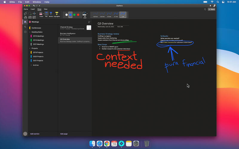 Microsoft OneNote Annotation with Ditto