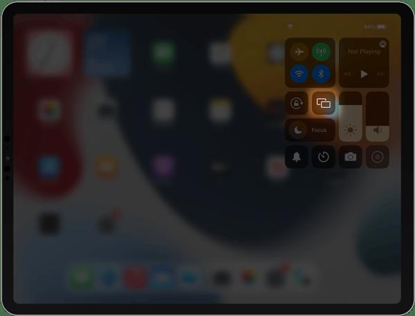iPad Screen Mirroring button