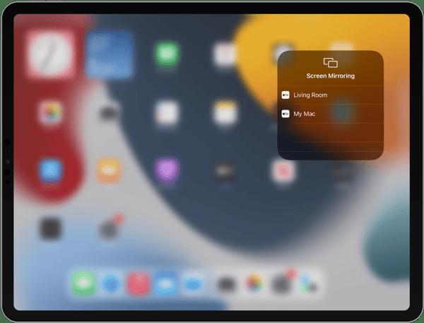 iPad Screen Mirroring list