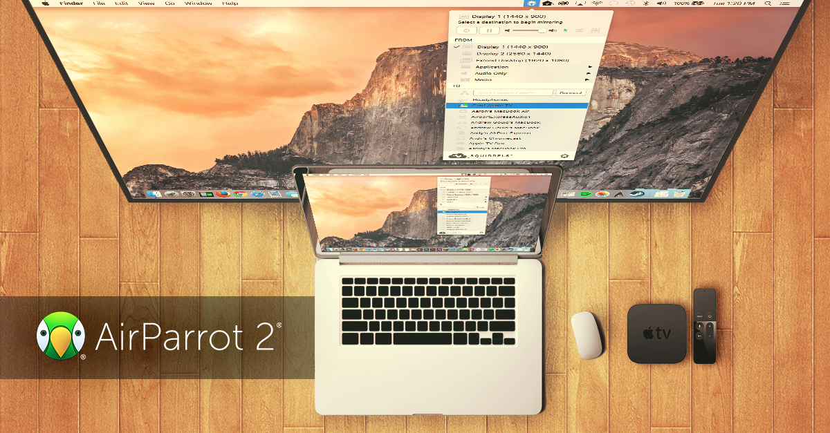 Use AirParrot 2 with the New Apple TV