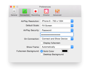 Security Preferences for Reflector