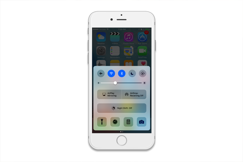 Reflector 2 - iPhone Control Center