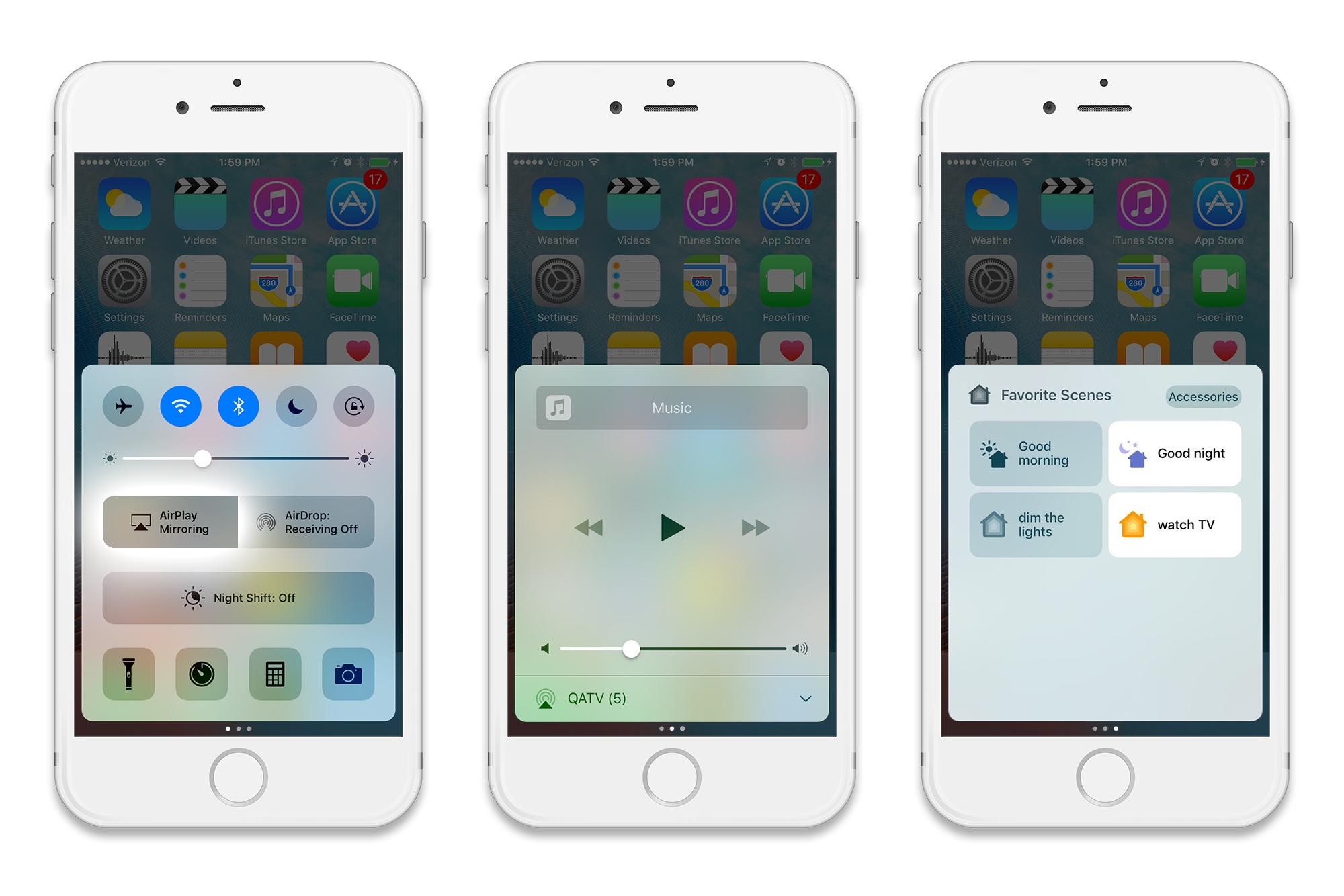 iOS 10 Control Center