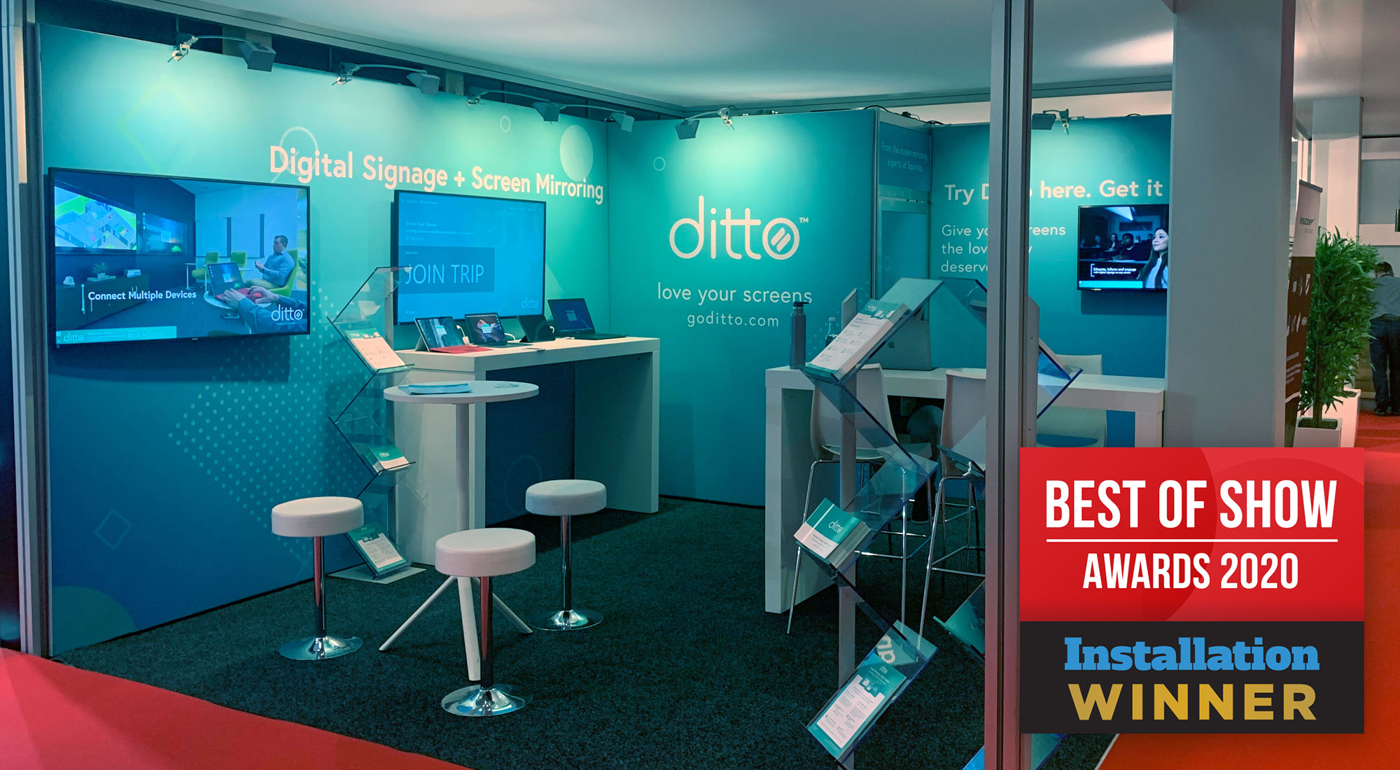 Ditto awarded Best of Show ISE Amsterdam 2020