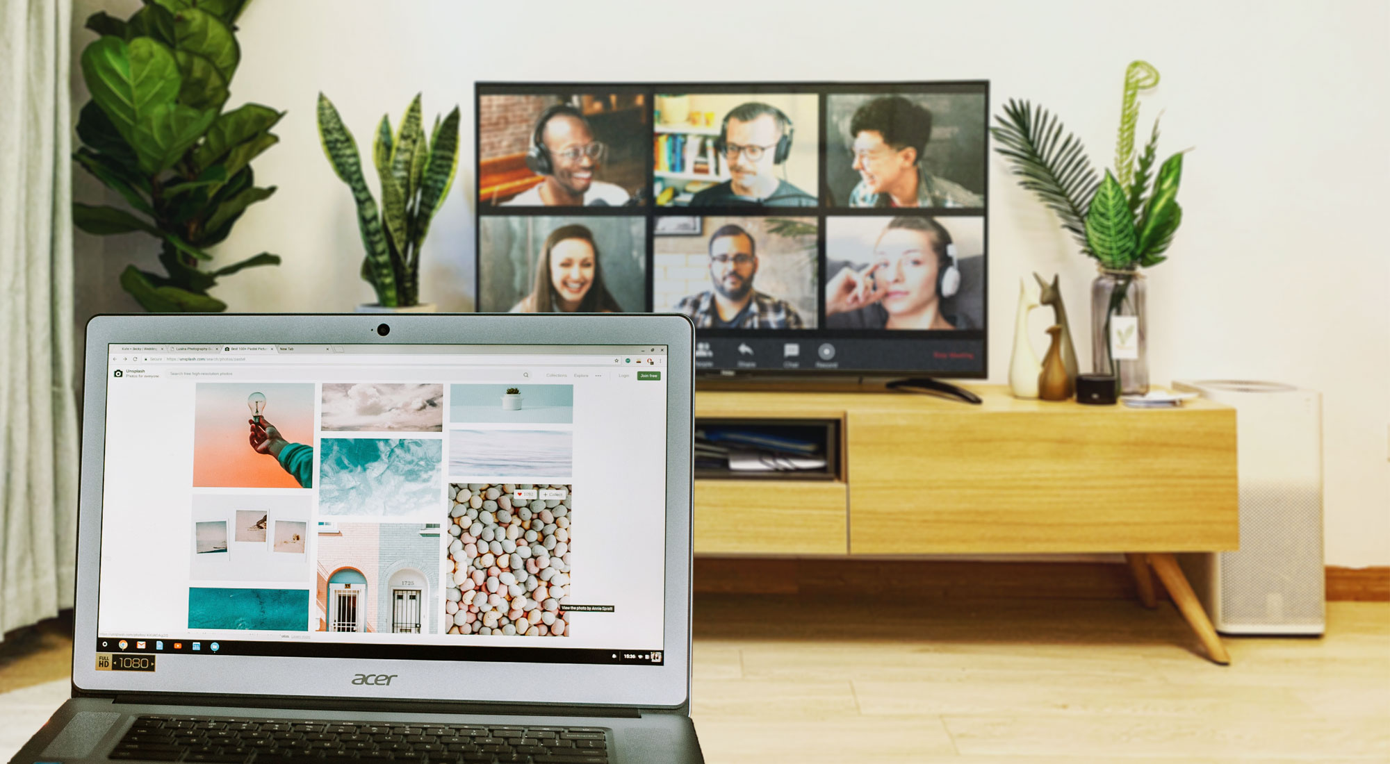 AirParrot mirrors remote meeting screen to TV