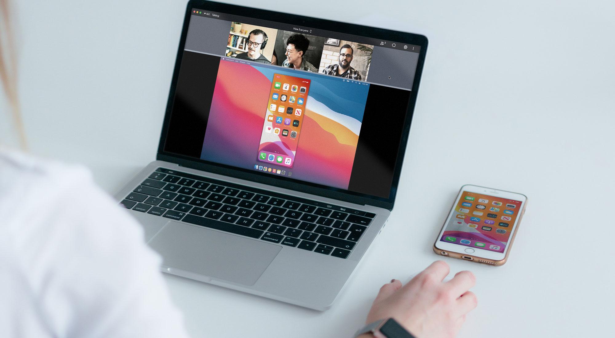 Phone sharing screen to GoToMeeting