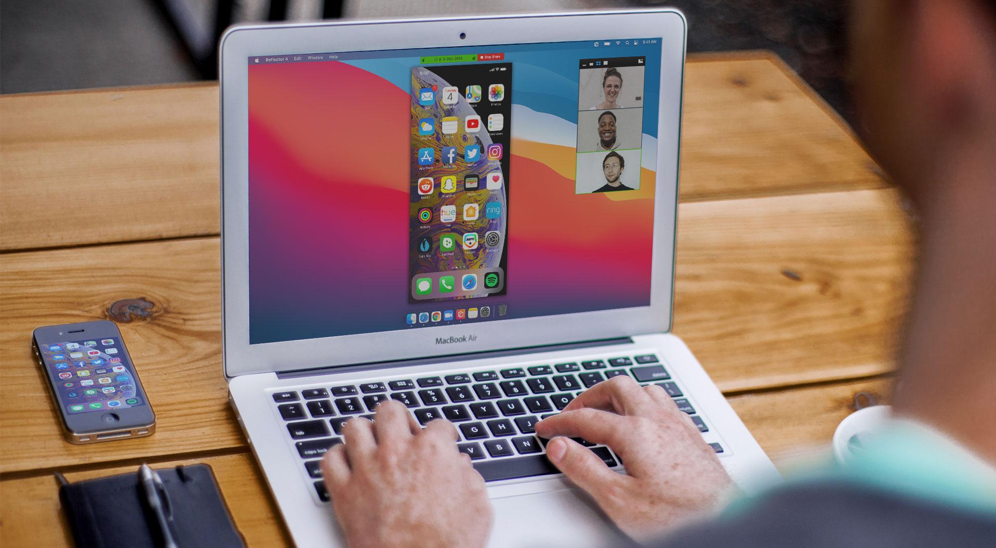Phone sharing screen to Zoom meeting