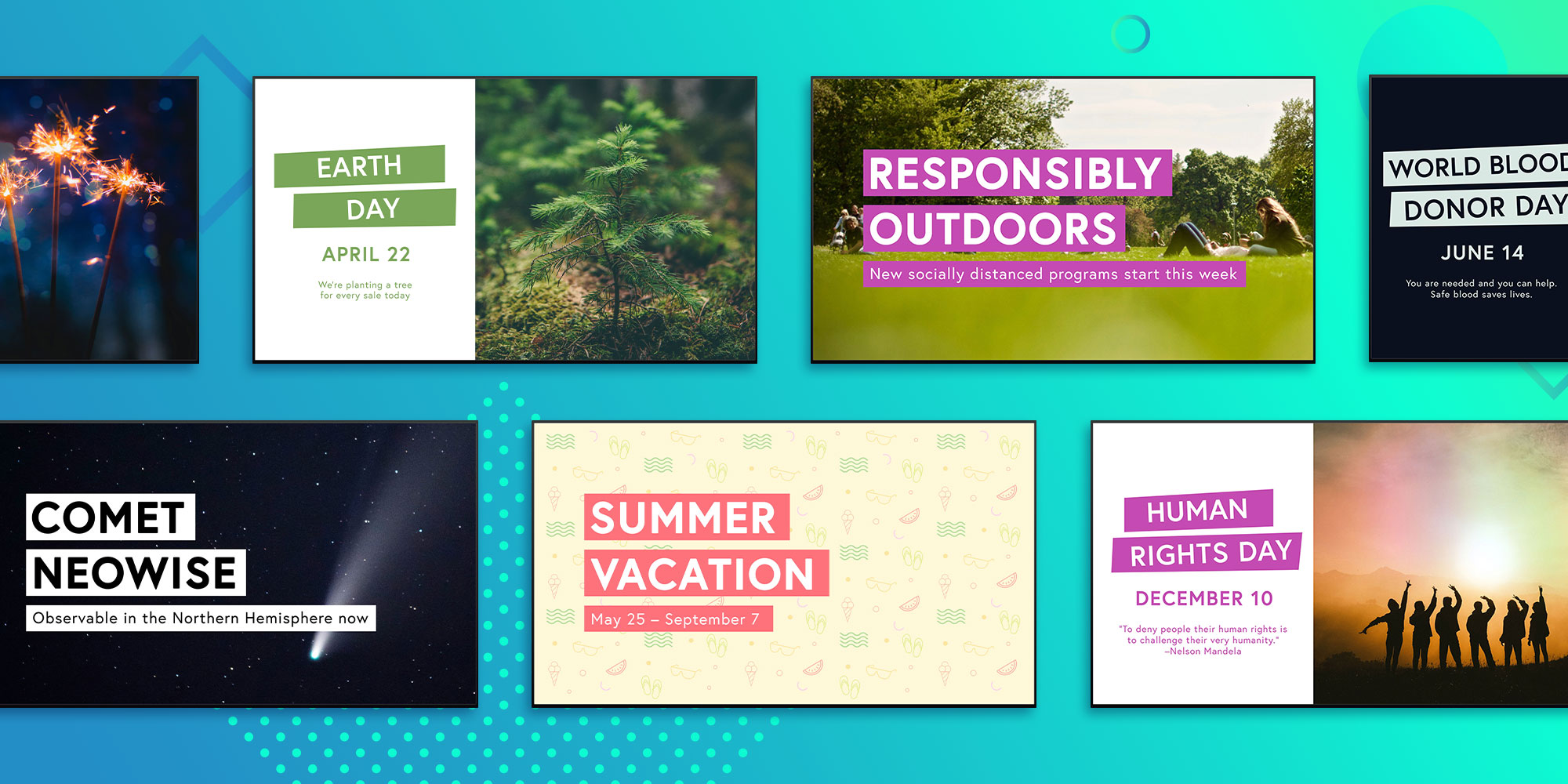 New Ditto Digital Signage Templates Help Your Summer Stand Out