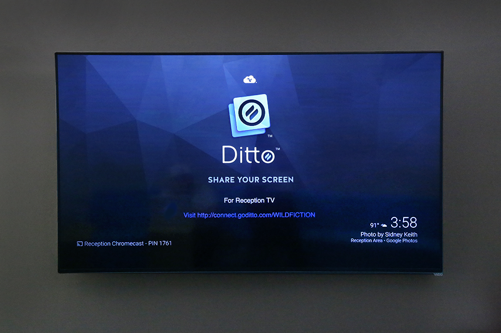 How to Configure a Chromecast Background to Display Ditto